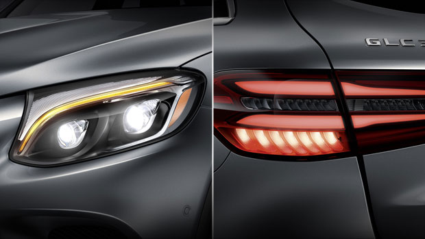 mercedes-glc 250 -2017- đèn xe